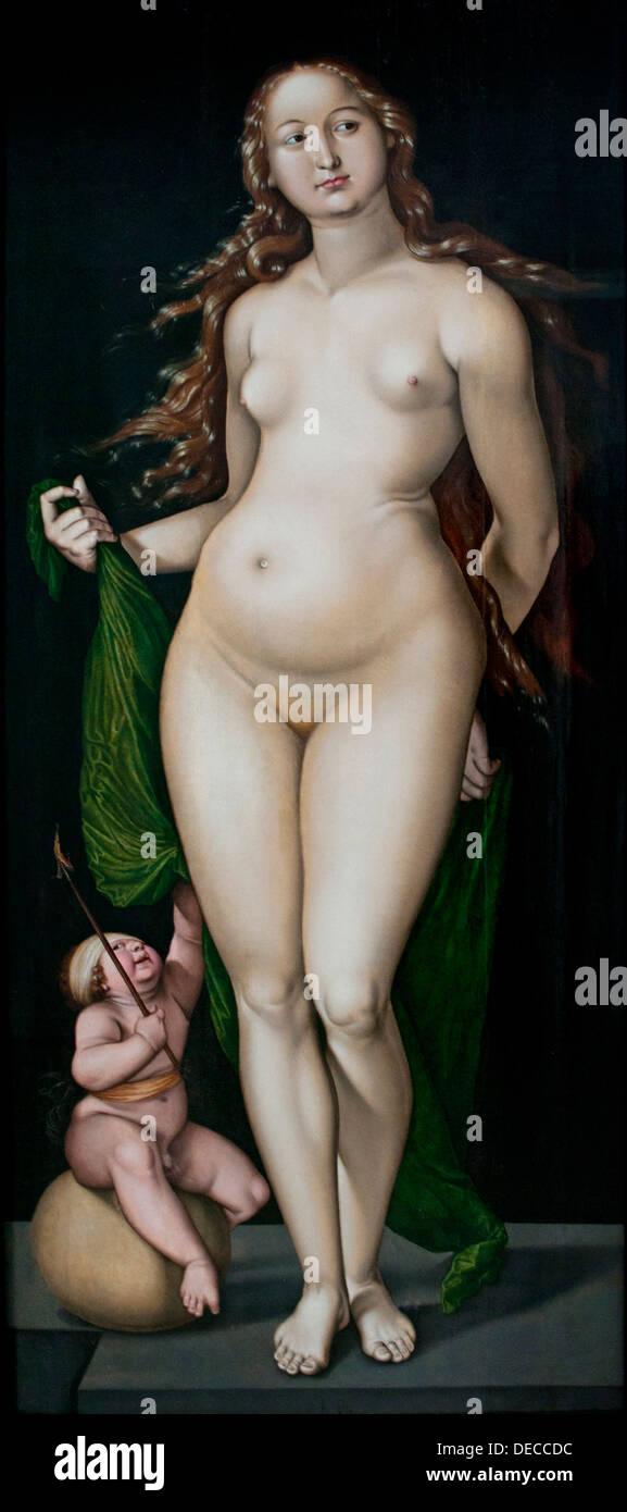 Venus and Amor Hans Baldung Grien 1484- 1545 German Germany - Stock Image