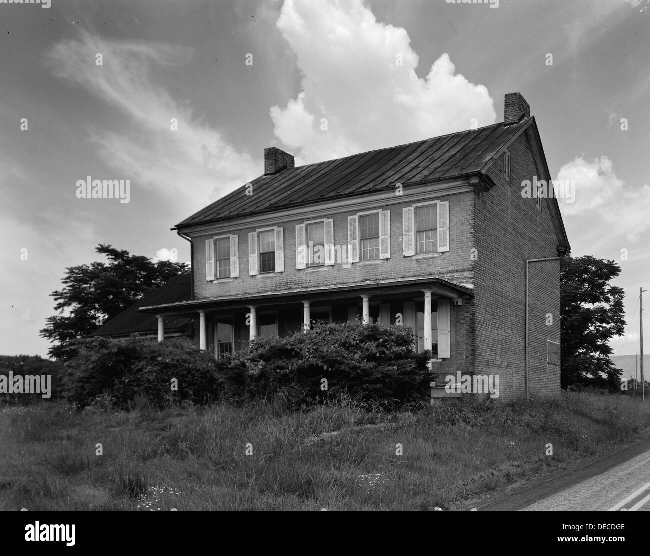 Sterrett-Hassinger House, also known as David Sterrett House, was a historic home located at Upper Mifflin Township in Cumberland County, Pennsylvania. It was built about 1789-1791, and modified between about 1830-1835 and 1850. The house was demolished a - Stock Image