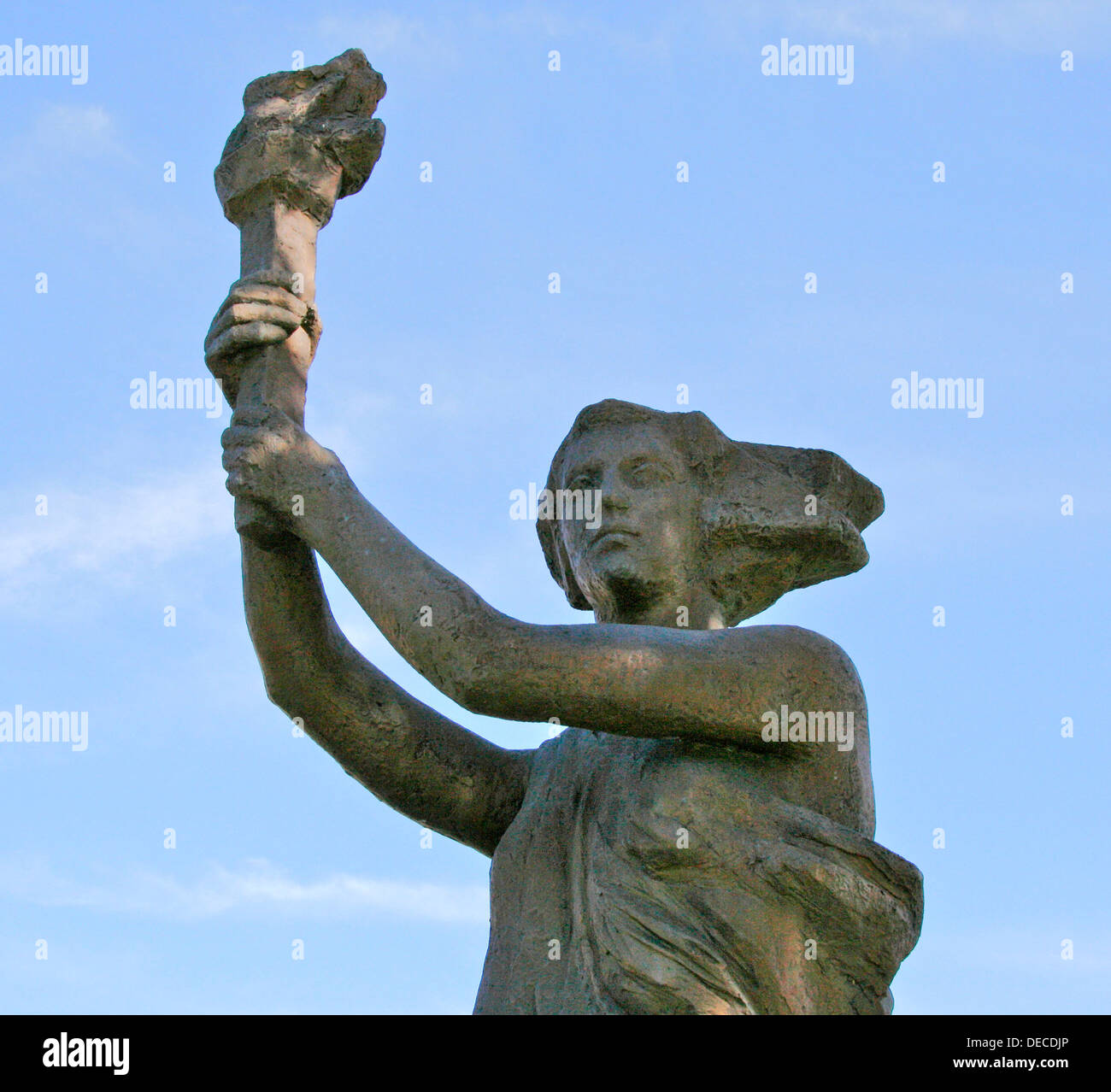 Victims of Communism Memorial in Washington DC. This is a recreation by Thomas Marsh of the statue 'Goddess of Democracy' that was the symbol of the protestors erected in Tianamen Square in 1989 and brutally destroyed by the PRC Communist government. - Stock Image