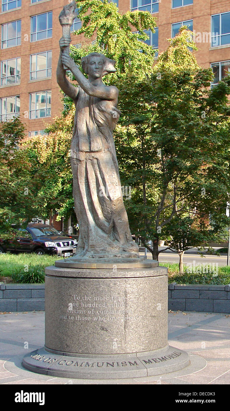 'Goddess of Democracy' Statue in Washington DC, also known as the 'Victims of Communism Memorial' by Thomas Marsh - Stock Image