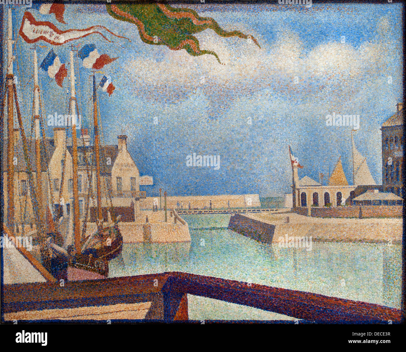 Sunday at Pert en Bessin 1888 Georges Seurat 1859 - 1891  France French - Stock Image