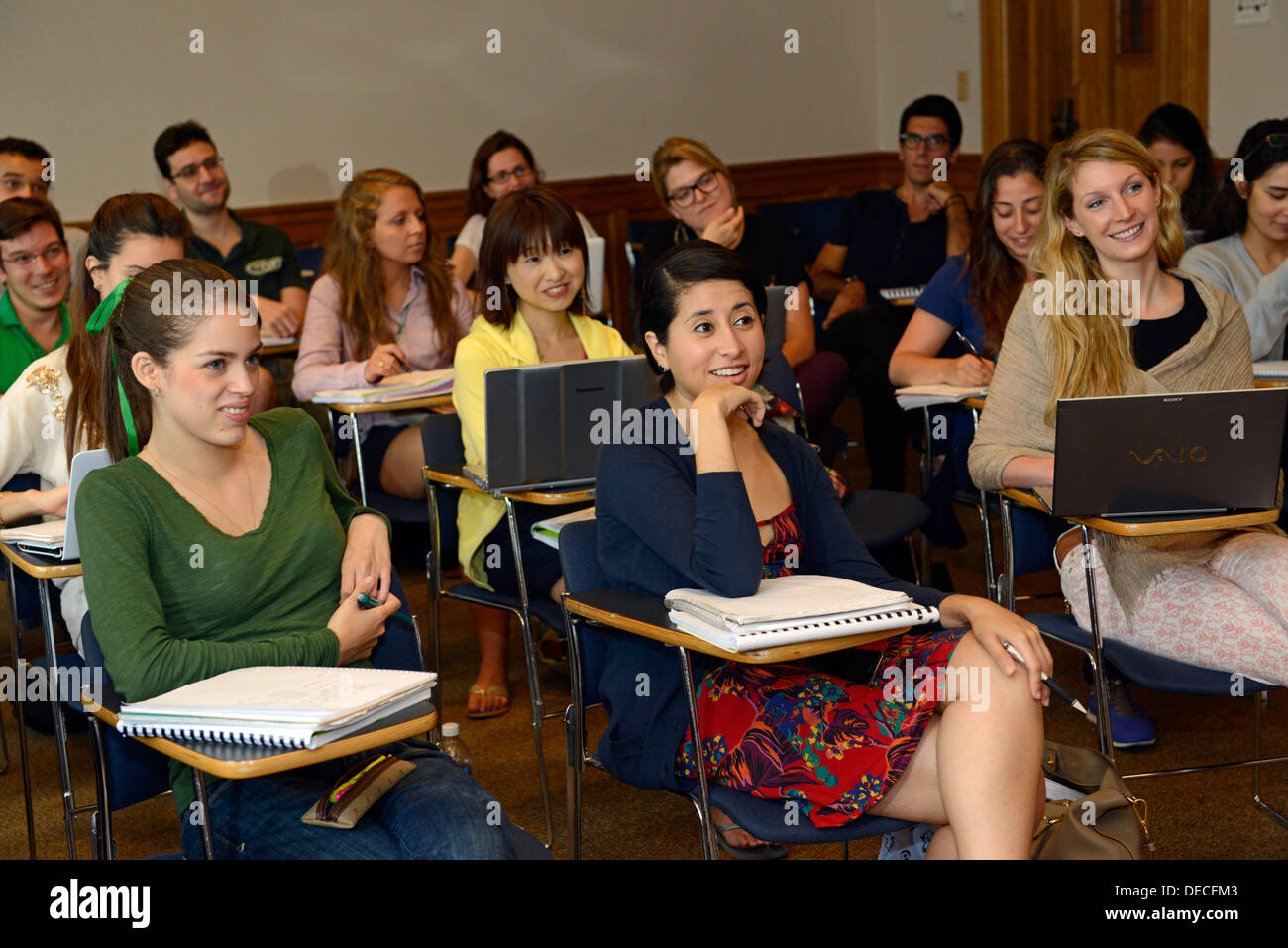 Class on US Constitutional law for foreign lawyers at Yale Summer School. - Stock Image