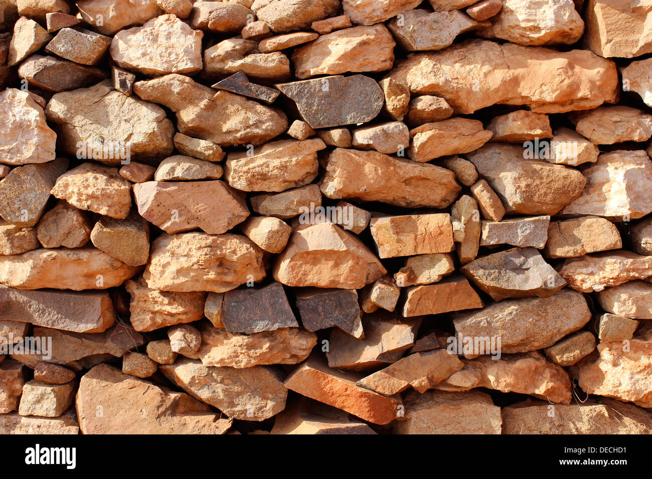 Wall in stones - Stock Image