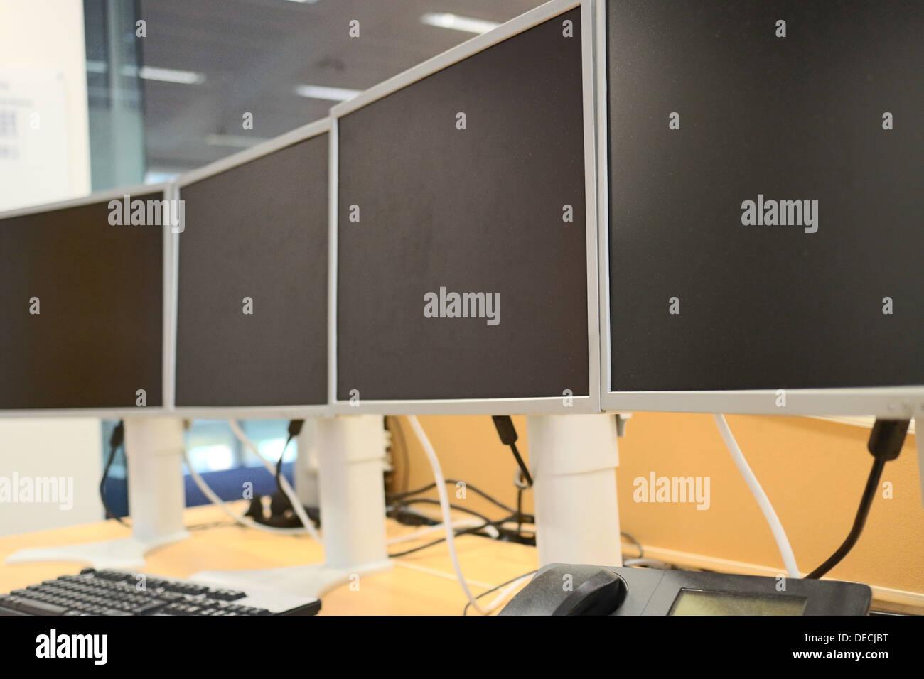 Modern Office Desk - Stock Image