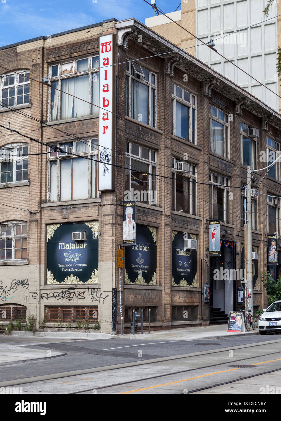 Malabar - business selling theatrical costumes and dance supplies in McCaul Street Toronto - Stock Image