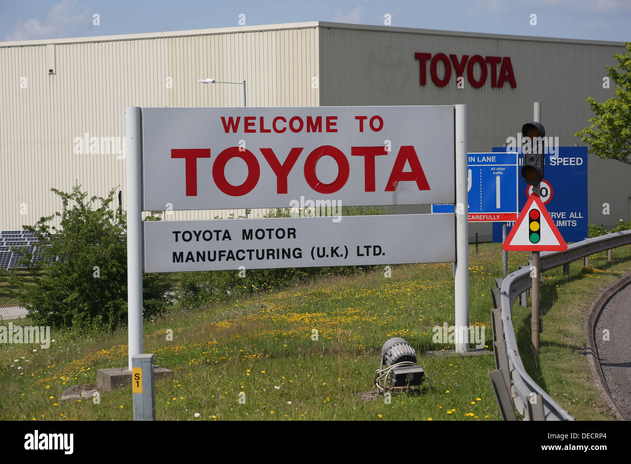 toyota factory - derby uk - Stock Image