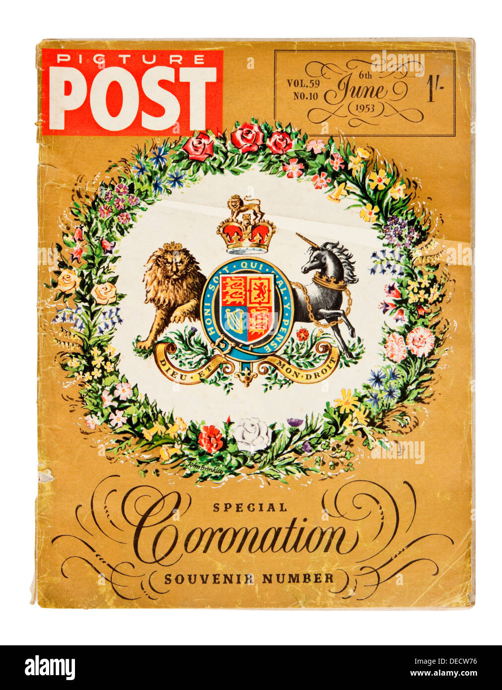 6th June 1953 Special Souvenir Edition of the Picture Post magazine to celebrate the Coronation of Queen Elizabeth II - Stock Image