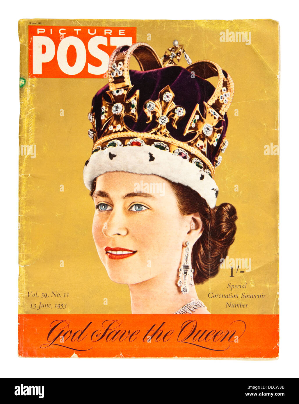 13th June 1953 Special Souvenir Edition of the Picture Post magazine to celebrate the Coronation of Queen Elizabeth II - Stock Image