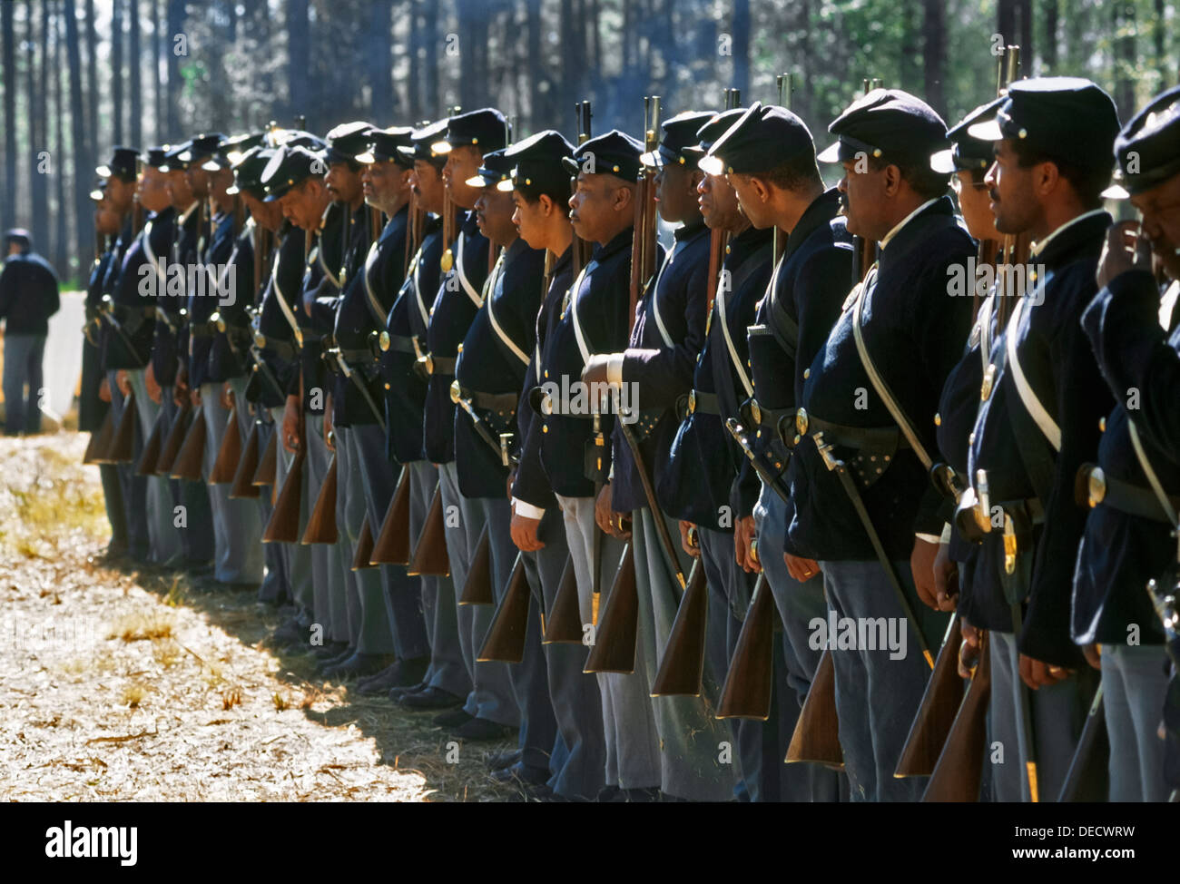 Olustee Battlefield Historic State Park commemorates the site of Florida's largest Civil War battle on February 20, 1864. - Stock Image