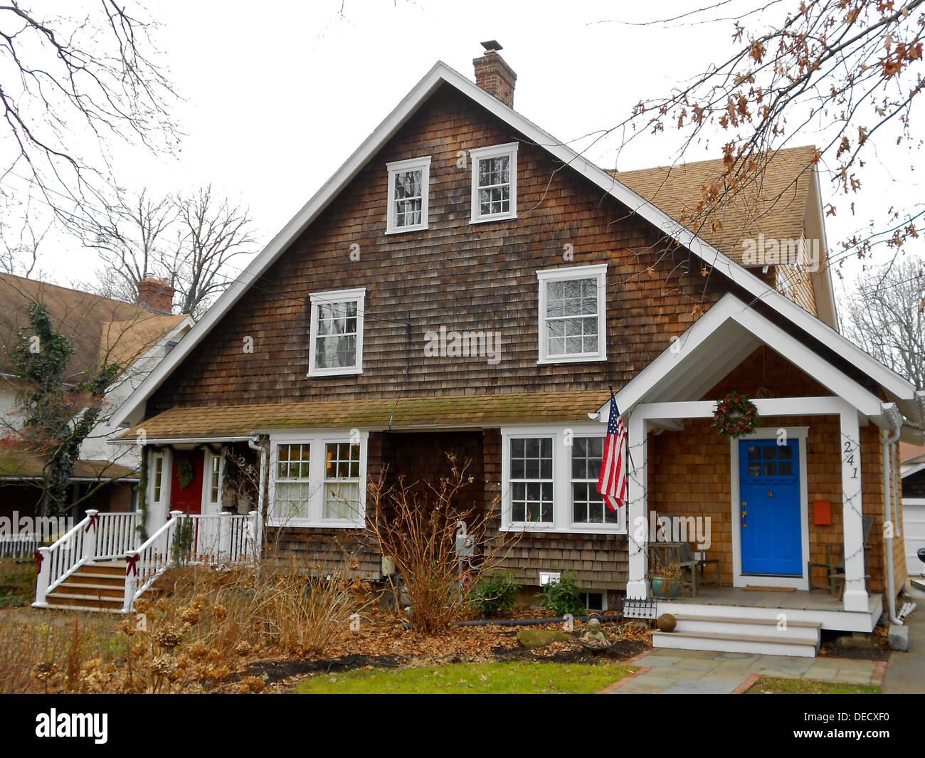 House  Lenoir, Wayne, Pennsylvania in the South Wayne historic District. - Stock Image