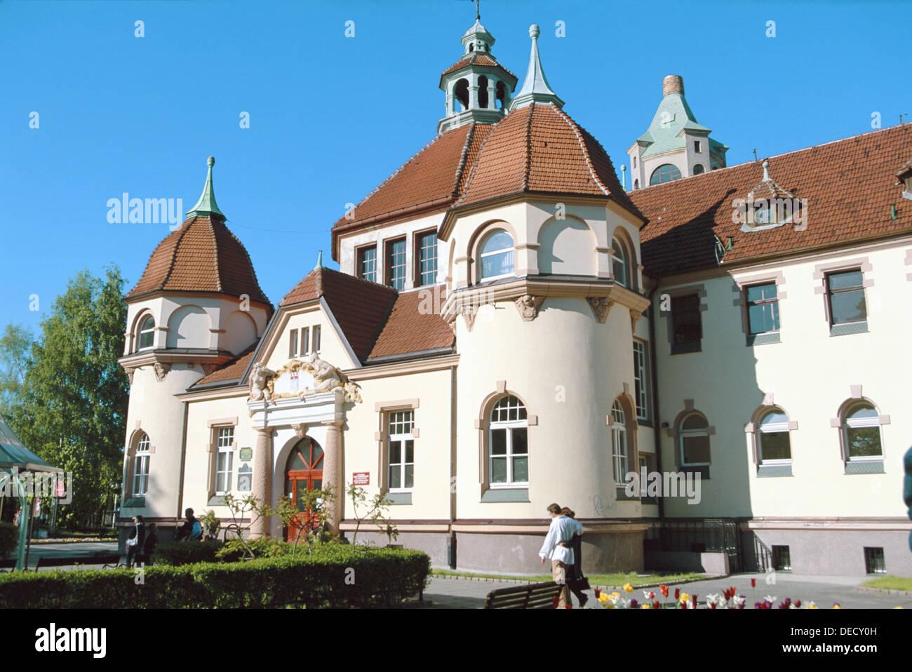 Sopot spa (19th Century). Pomerania. Poland - Stock Image