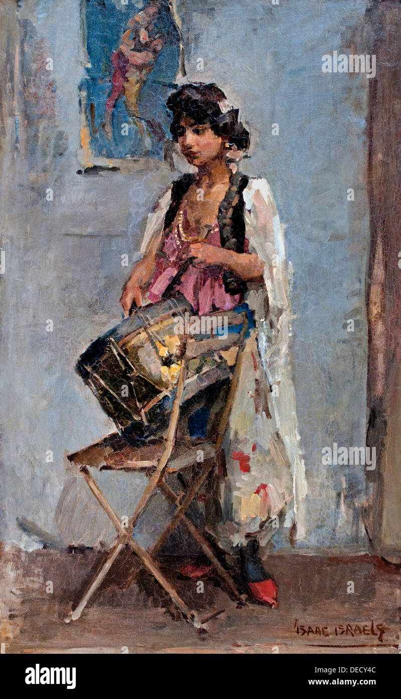 Trommelslaagster - Drums Low Star 1908 Isaac Lazurus Israels 1865 - 1934   Dutch Netherlands - Stock Image