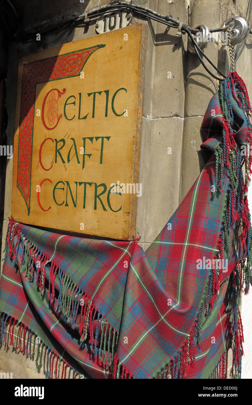 Celtic Craft Centre in Edinburgh Scotland Capital city - Stock Image