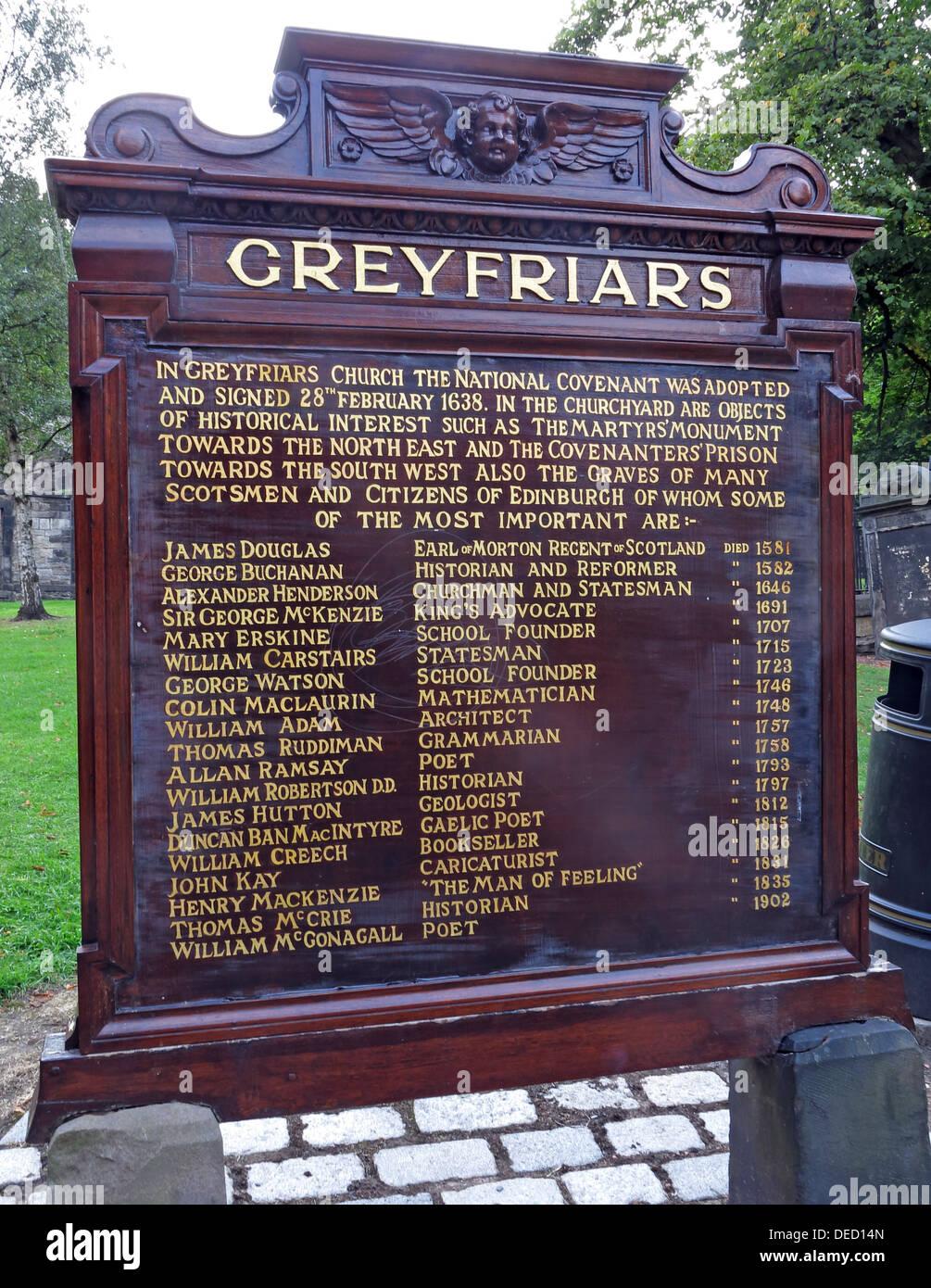 Greyfriars Kirkyard entrance Edinburgh Capital City, Scotland UK - Stock Image
