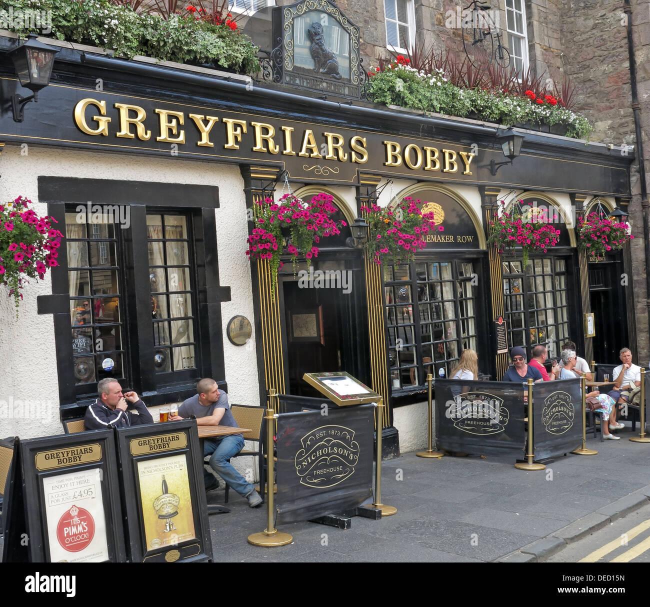 Greyfriars Bobby bar exterior Edinburgh Capital City, Scotland UK - Stock Image