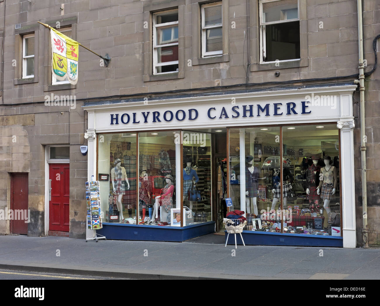 Holyrood cashmere shop, Royal Mile, Edinburgh,Scotland, UK - Stock Image