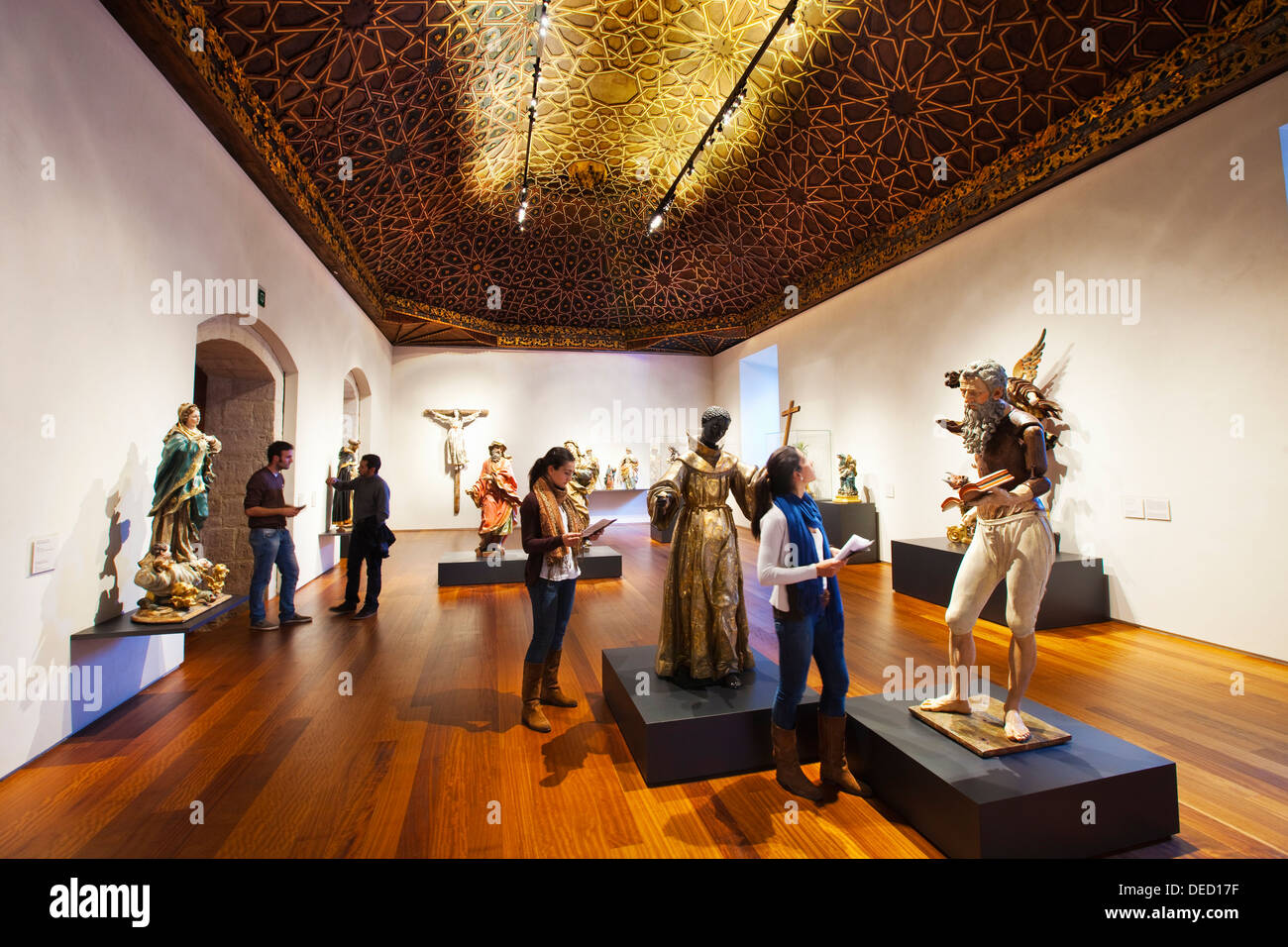 Hall 20  Baroque Images. San Gregorio College. San Gregorio College National Museum.Valladolid. Castilla- Leon. Spain. - Stock Image