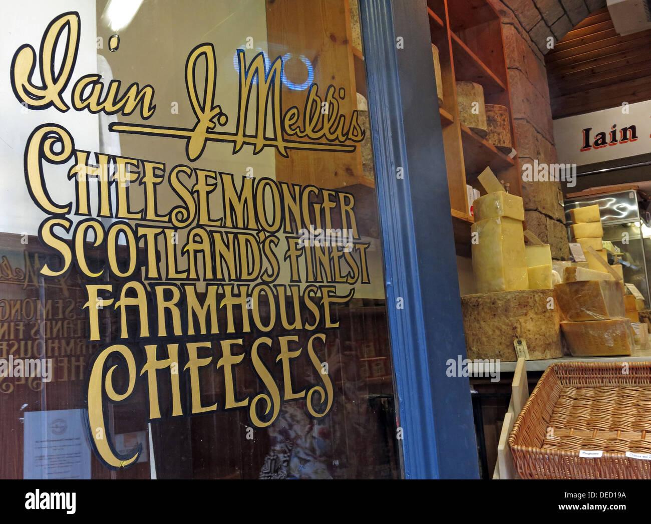 Iain Mellis Cheesemaker, Victoria St,Edinburgh,Scotland,Uk Stock Photo