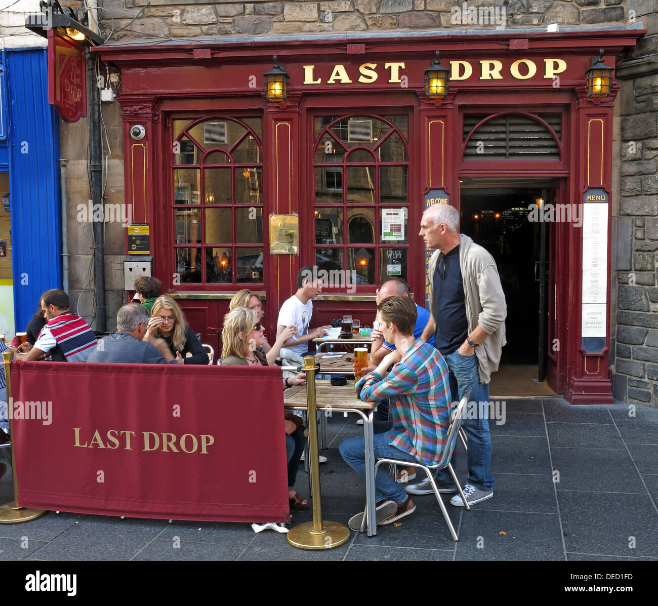 Last Drop, Tourist Bar, Grassmarket, Edinburgh, Scotland, UK - Stock Image