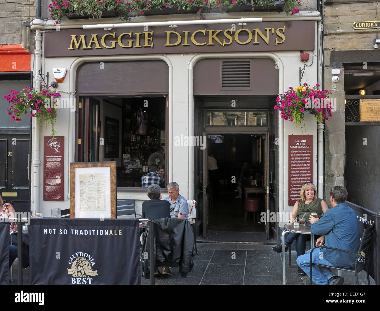 Maggie Dicksons pub, Grassmarket, Edinburgh,Scotland,UK - Stock Image
