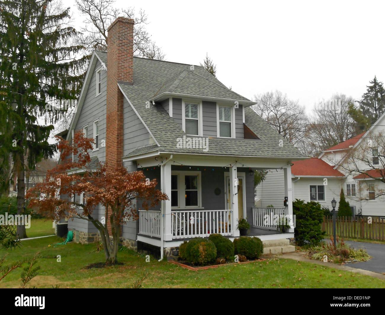 House in the North Wayne Historic District in Wayne, Pennsylvania on the Main Line in suburban Philadelphia. The Stock Photo