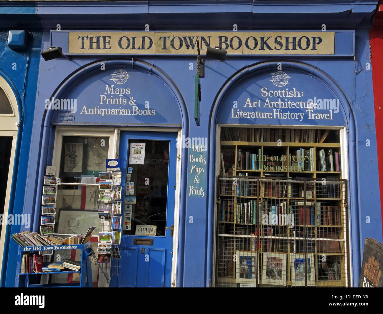 The old town bookshop Victoria Street Edinburgh Scotland UK - Stock Image