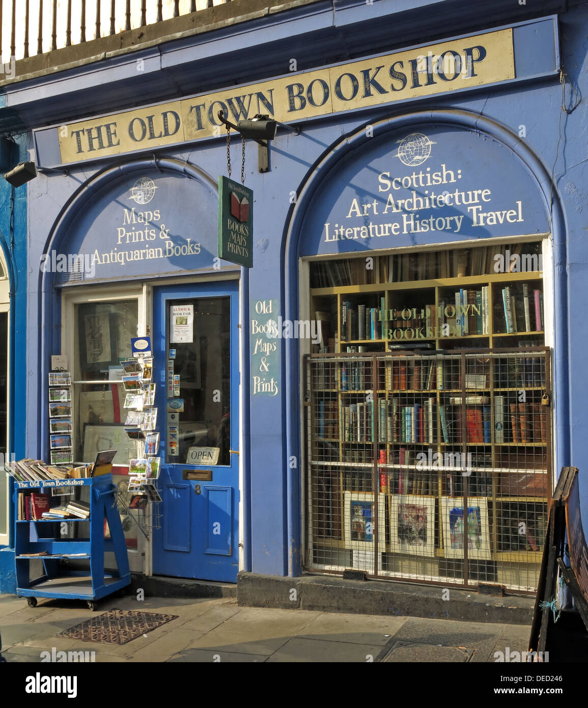 The old town bookshop Victoria Street Edinburgh Scotland UK Stock Photo