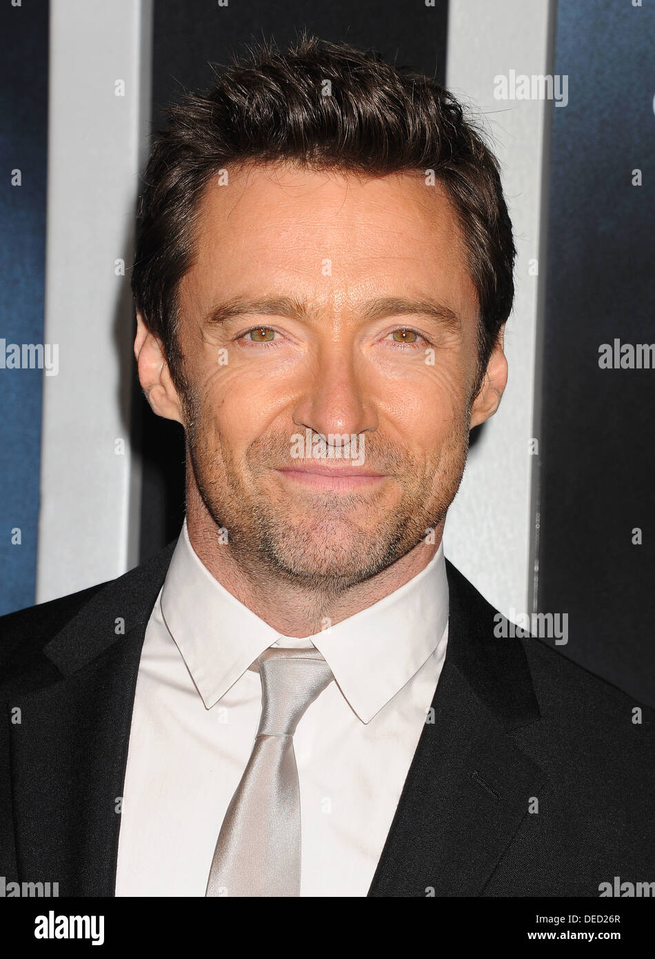 HUGH JACKMAN Australian film actor in September 2013. Photo Jeffrey Mayer - Stock Image