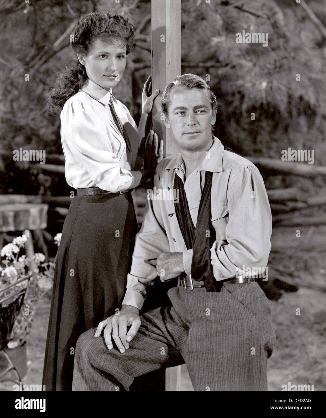 WHISPERING SMITH  1948 Paramount Pictures film with Alan Ladd and Brenda Marshall - Stock Image
