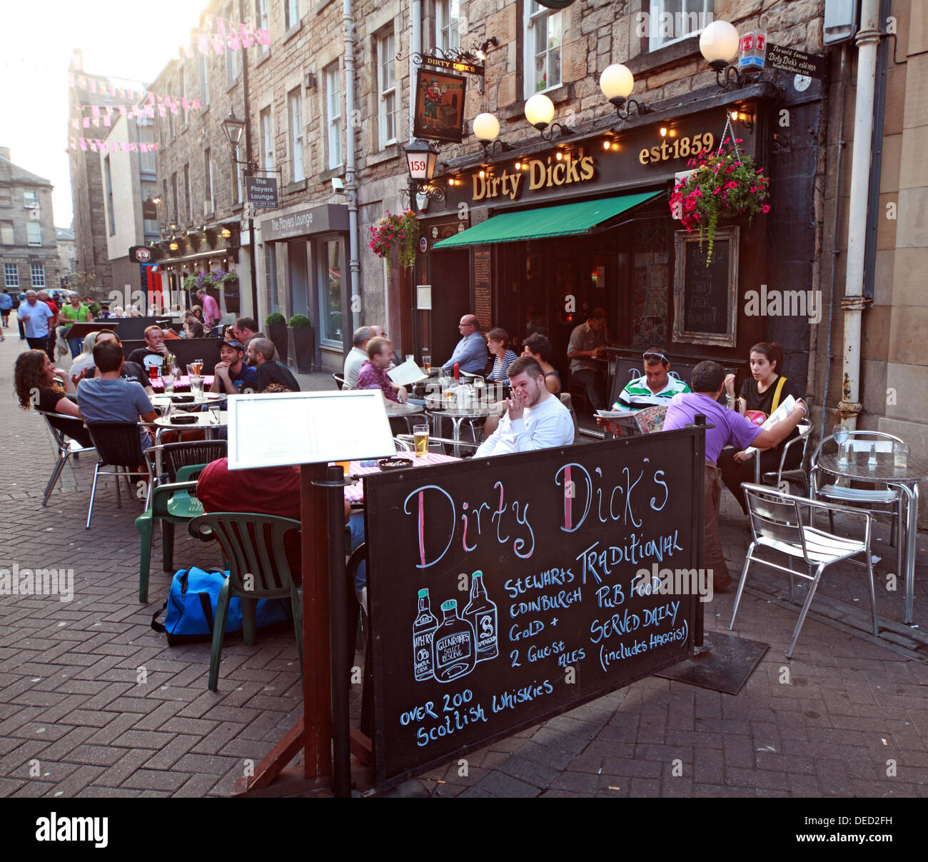 Dirty Dicks Pub Rose St Edinburgh New Town Scotland - Stock Image