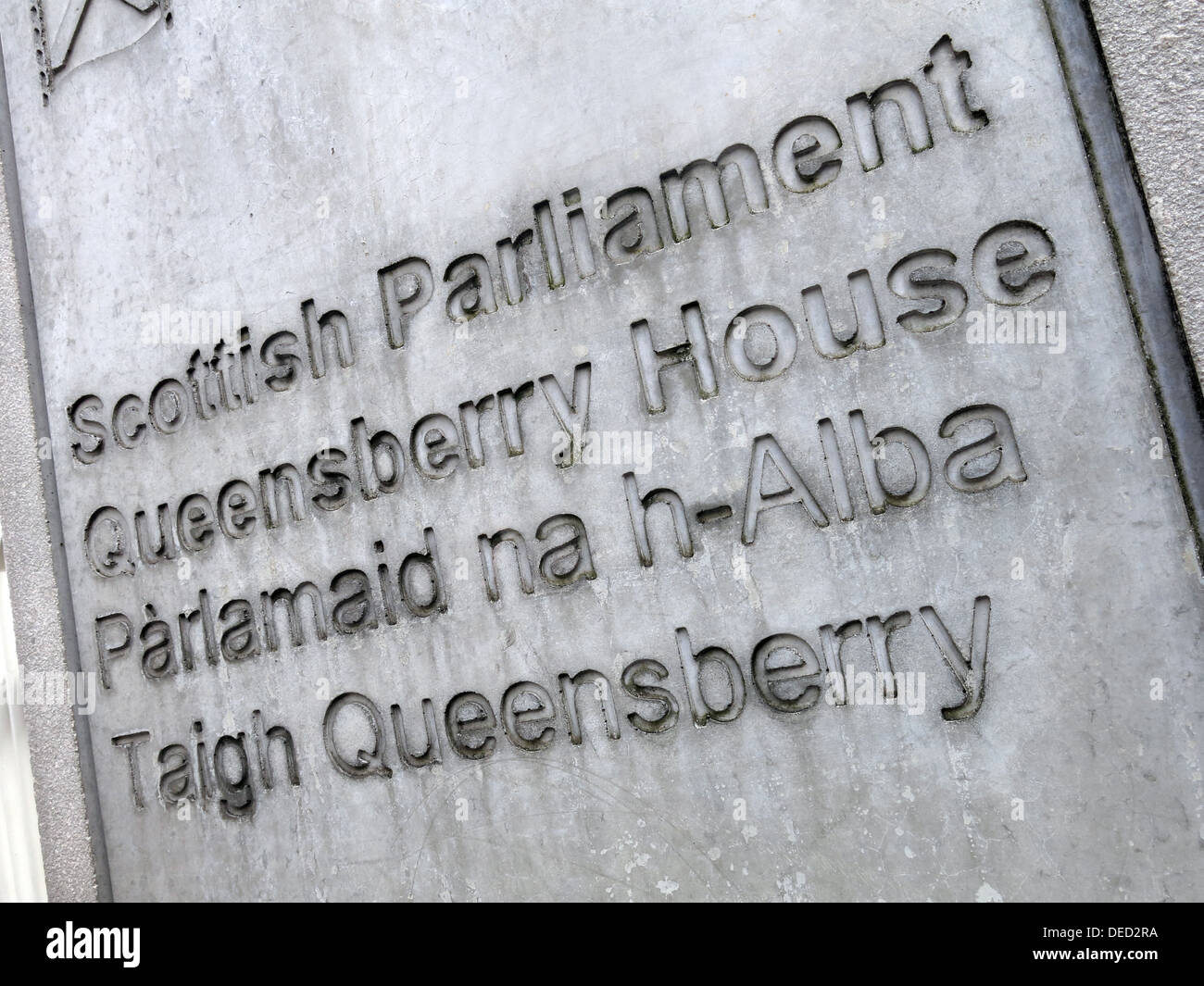 The Scottish Parliament / Government Queensberry House in Edinburgh which would be home of an independent Scotland - Stock Image