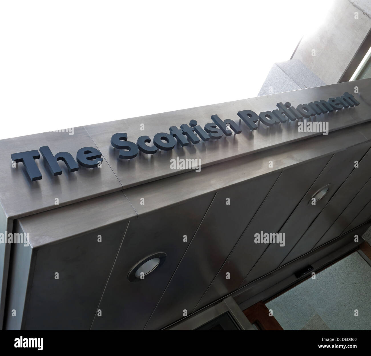 The Scottish Parliament entrance / Government in Edinburgh which would be home of an independent Scotland - Stock Image