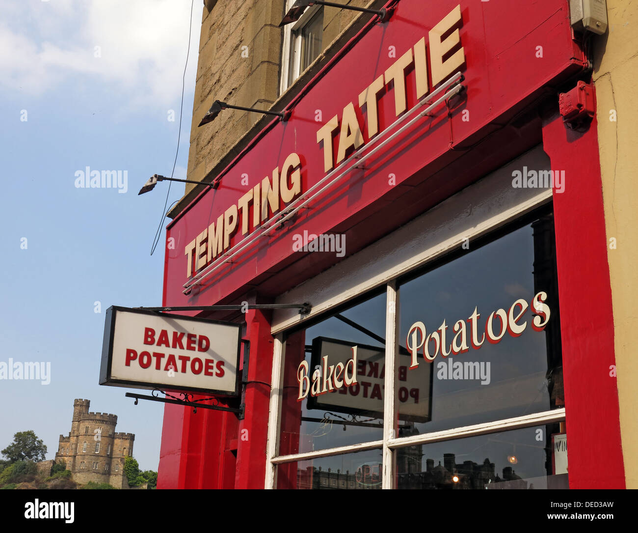 The Tempting Tattie Baked Spud shop Edinburgh Scotland UK - Stock Image