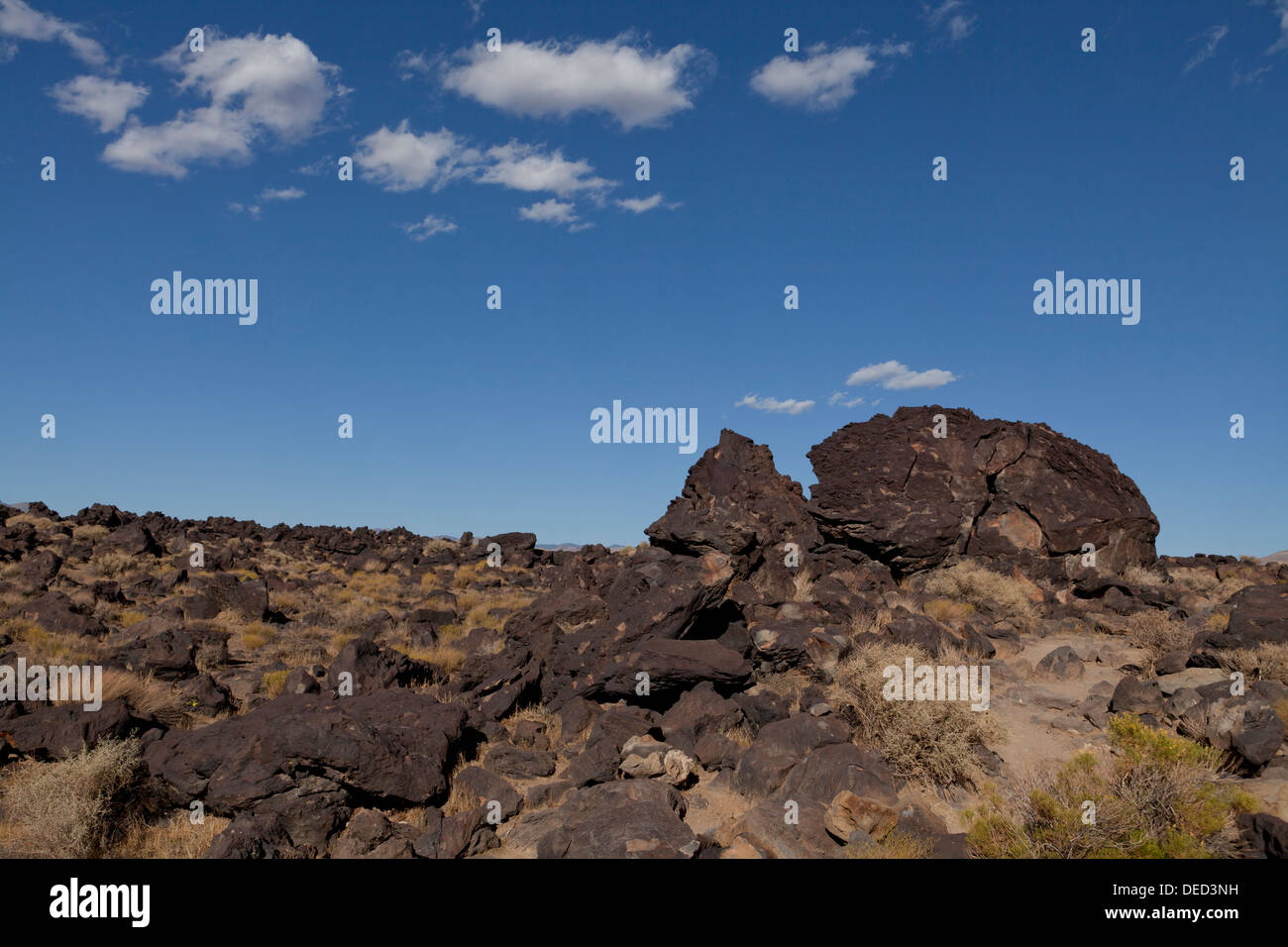 Volcanic basalt rock formation - California USA - Stock Image