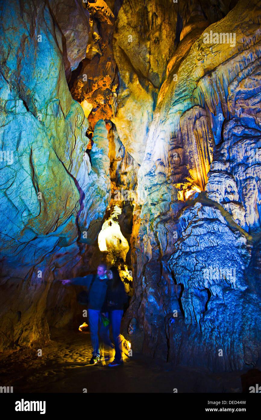Gallery of the discs  Monte Castillo caves  Puente Viesgo  Pas valley  Cantabria  Spain. - Stock Image