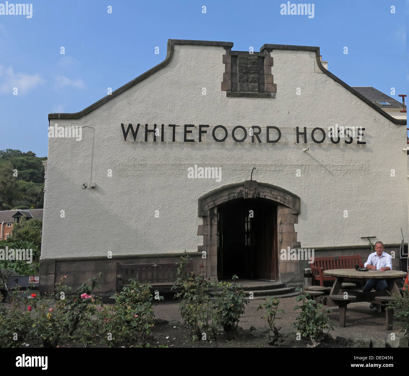 Whitefoord House Canongate Royal Mile , Edinburgh Scotland - Stock Image