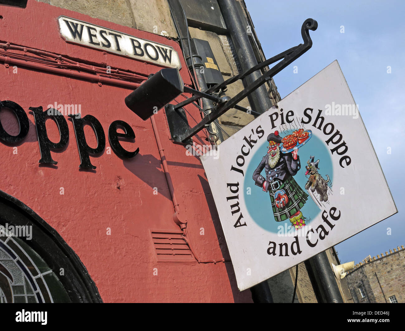 Auld Jocks Pie Shoppe and cafe Edinburgh Scotland - Stock Image