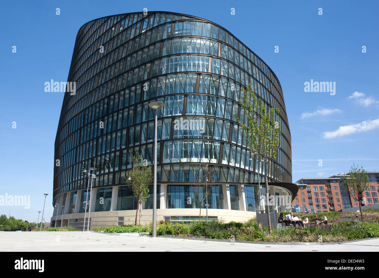 One Angel Square, a high-sustainable office building in Manchester, England. Stock Photo