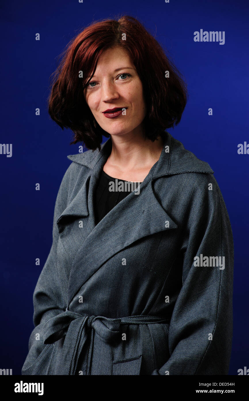 Jess Richards, Welsh author, attending at the Edinburgh International Book Festival, Saturday 10th August 2013. - Stock Image