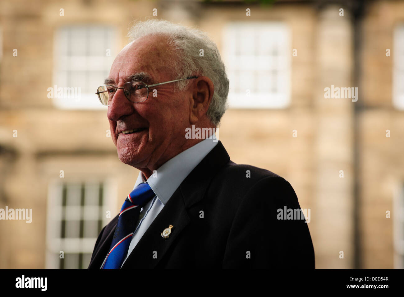 Harold Davis, Scottish former professional football player, attending at the international Book Festival 2013. - Stock Image