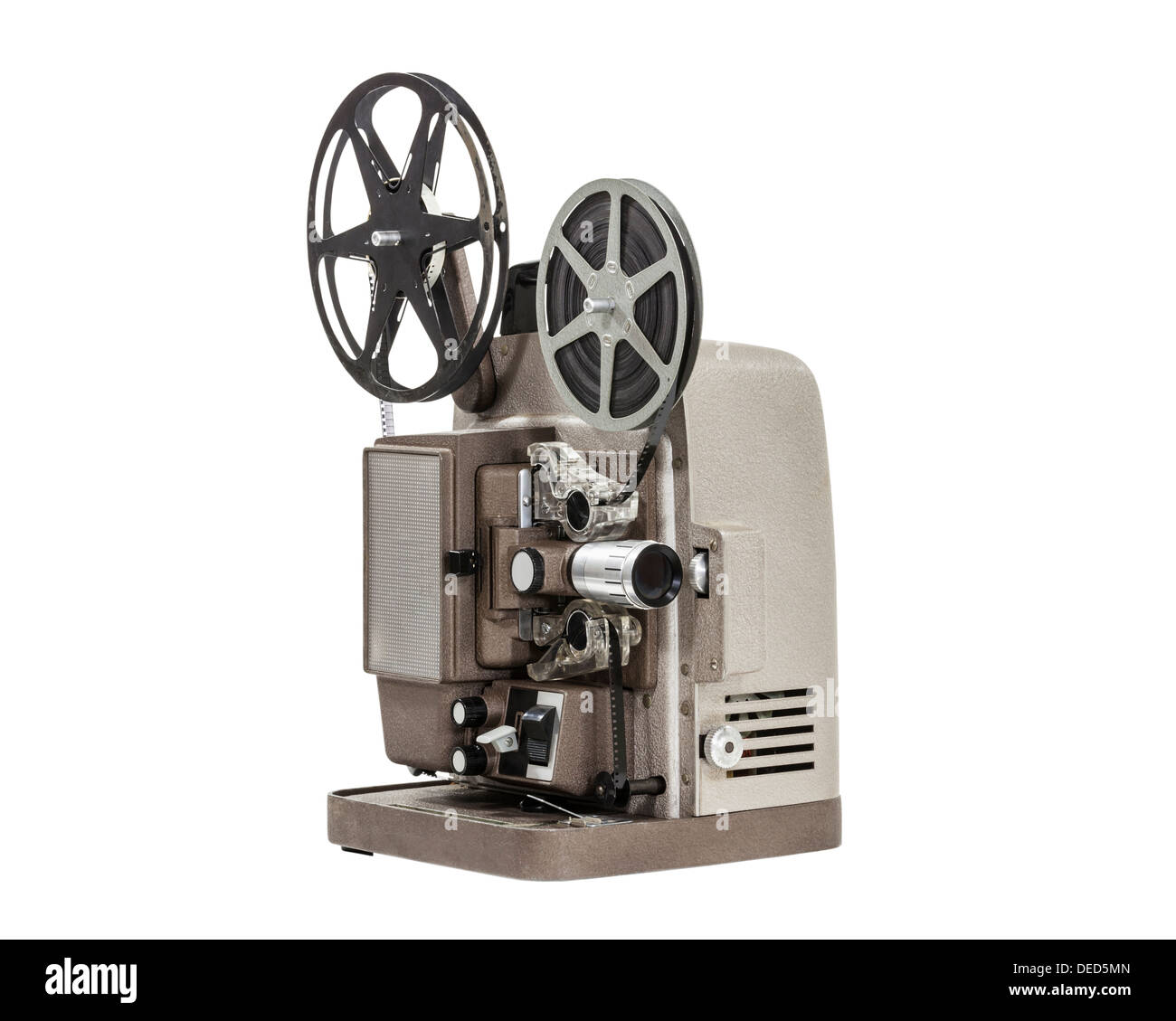 Vintage Home Movie Film Projector Isolated Stock Photo 60526165 Alamy