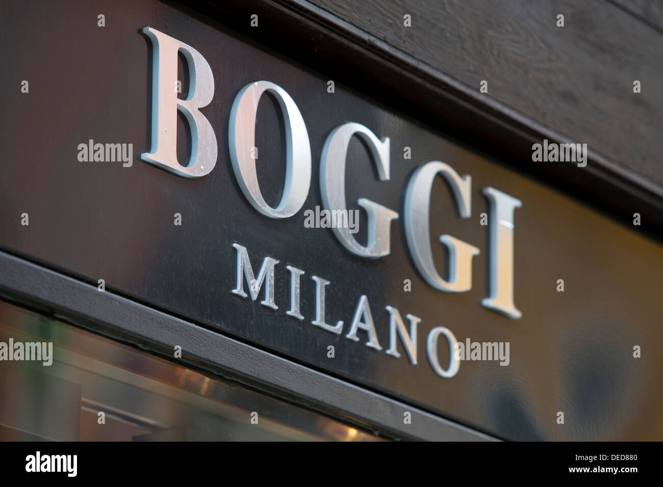 BOGGI MILANO, SHOP SIGN. VENICE, ITALY - Stock Image