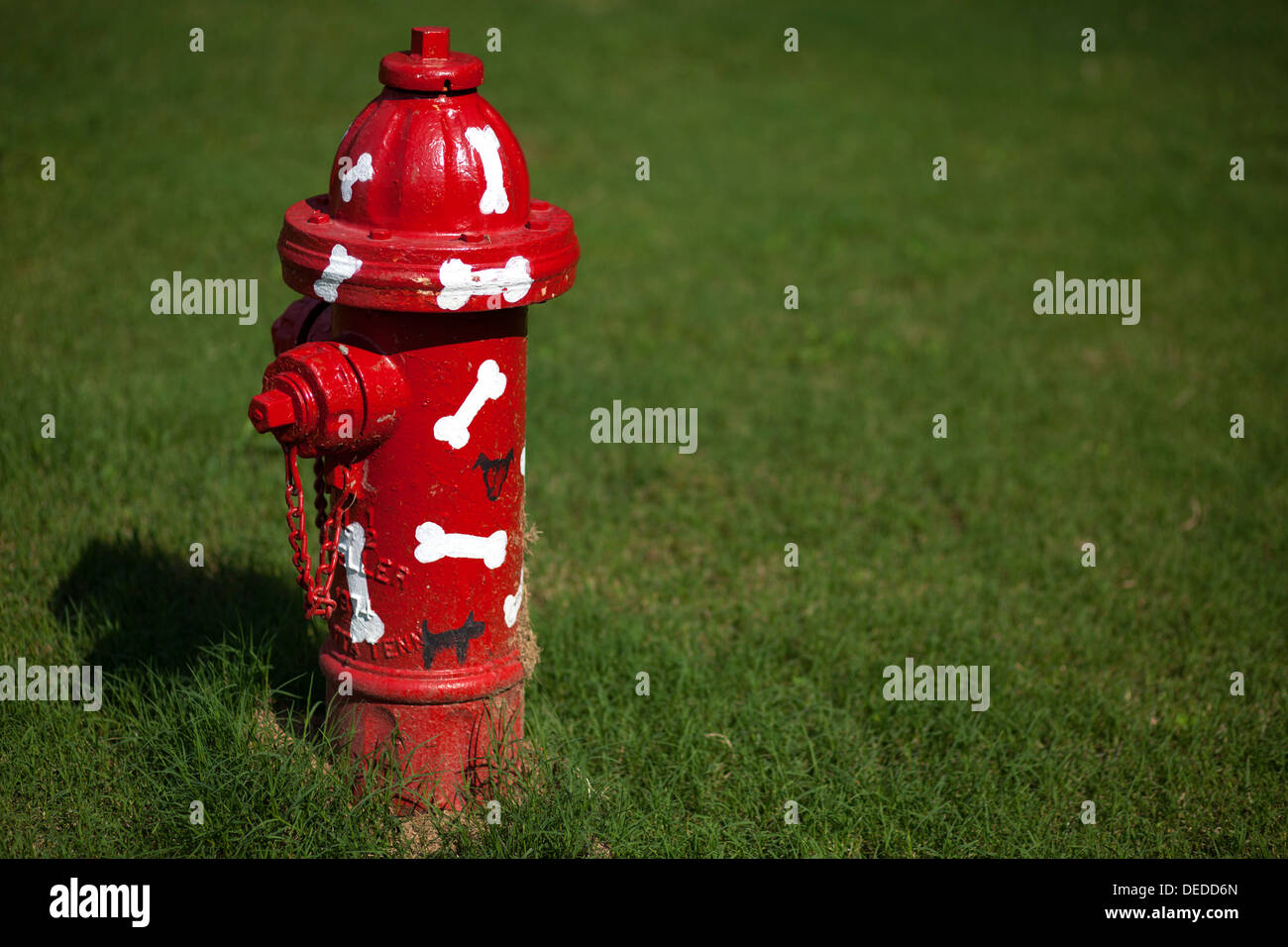 A dog themed fire hydrant. - Stock Image