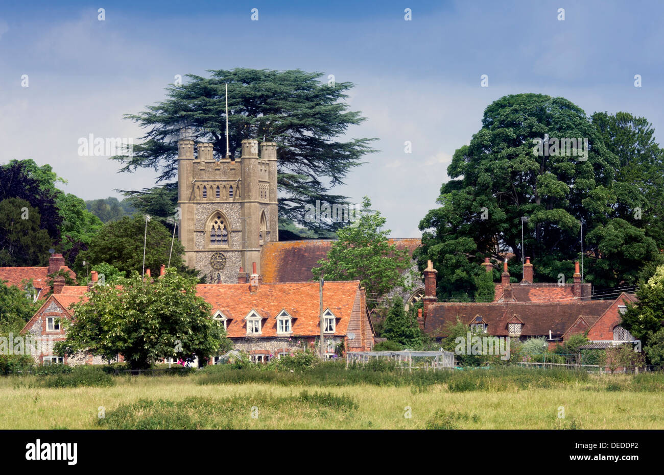 View of Hambleden, a Village in Buckinghamshire - Stock Image