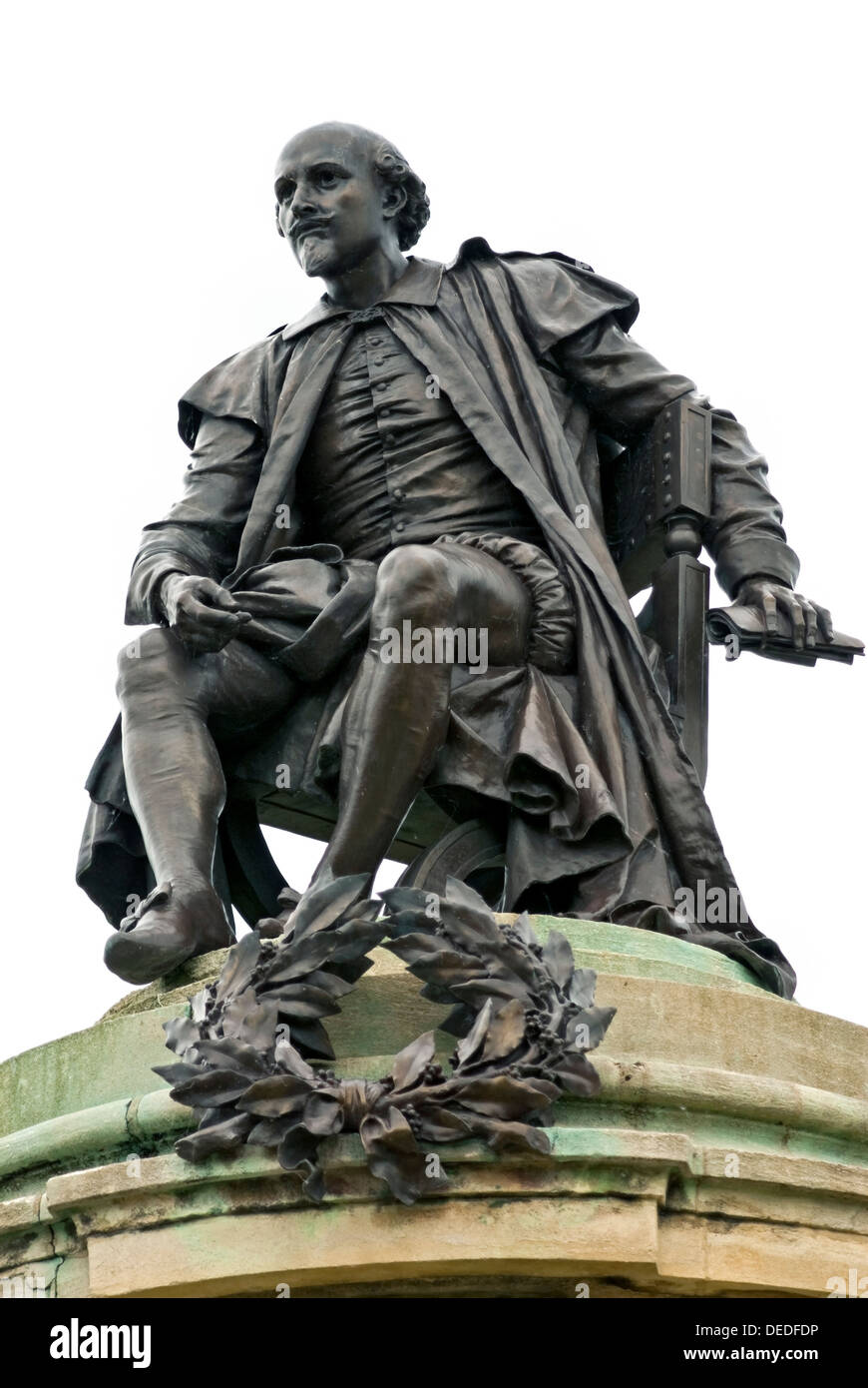 Cut out of the Shakespeare sculpture, Sir Ronald Gower Memorial to Shakespeare in Stratford upon Avon, Warwickshire, England. - Stock Image