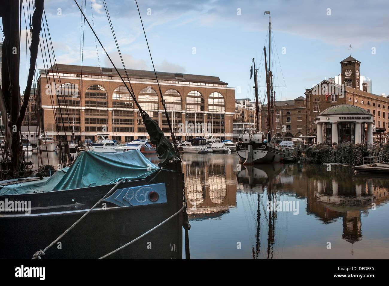 St Katharine Dock, City of London - Stock Image