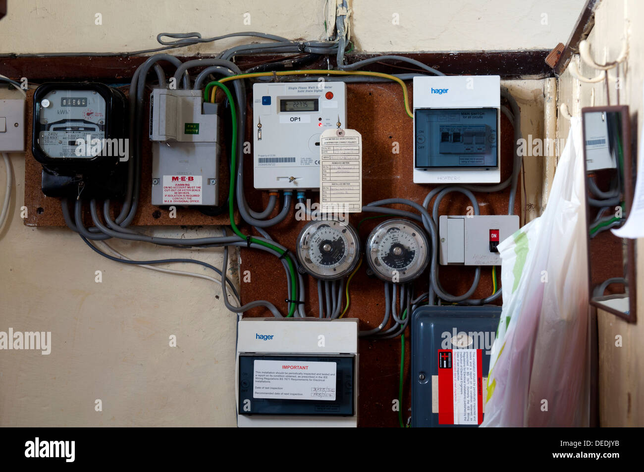 Electrical control boxes in a church Stock Photo: 60536543 - Alamy