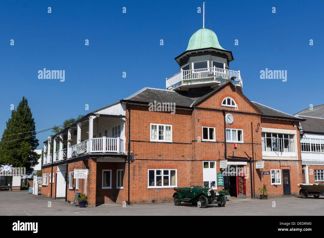 Brooklands Racetrack clubhouse, Weybridge, Surrey, England, United Kingdom, Europe - Stock Image
