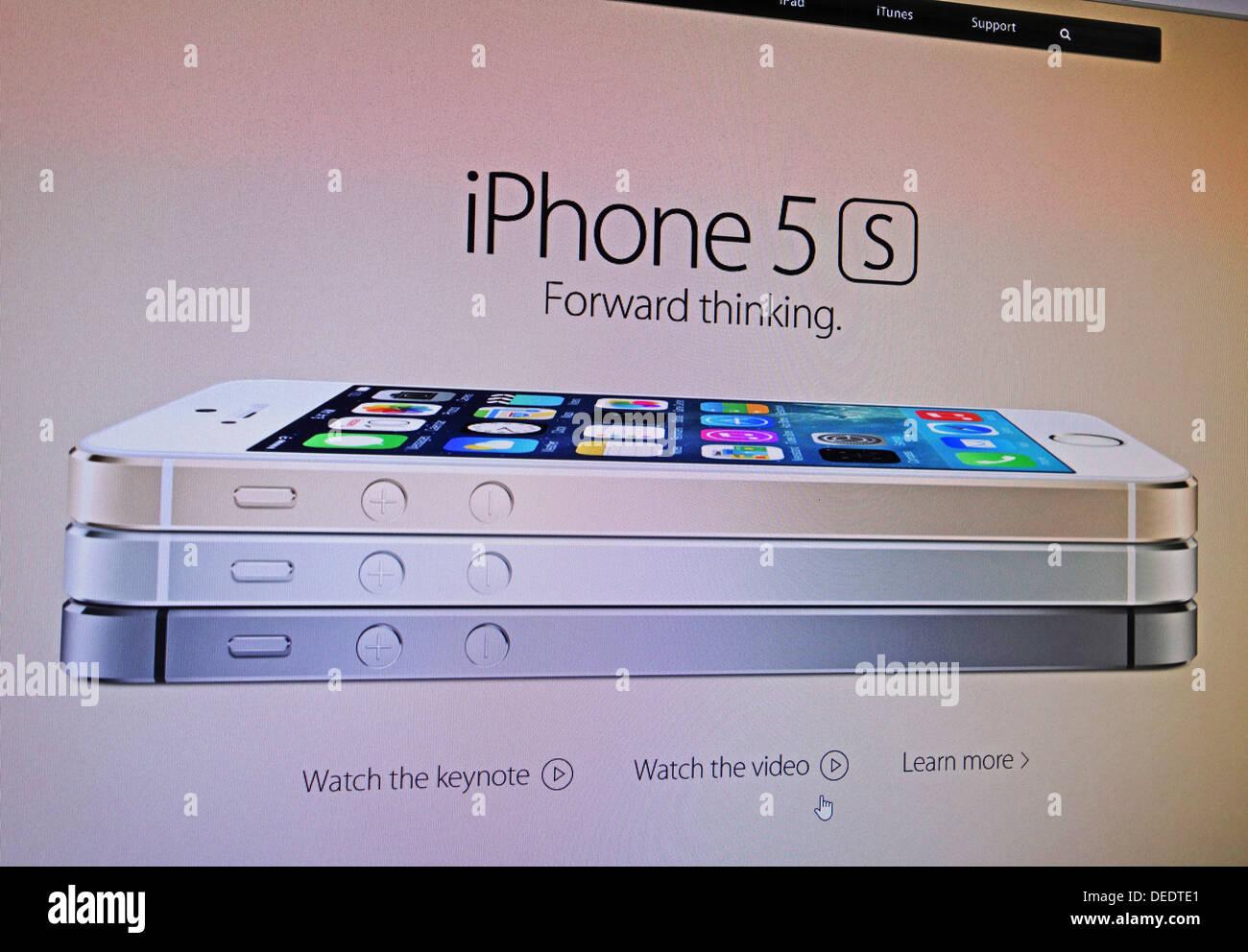 iPhone 5 s internet advert - Stock Image