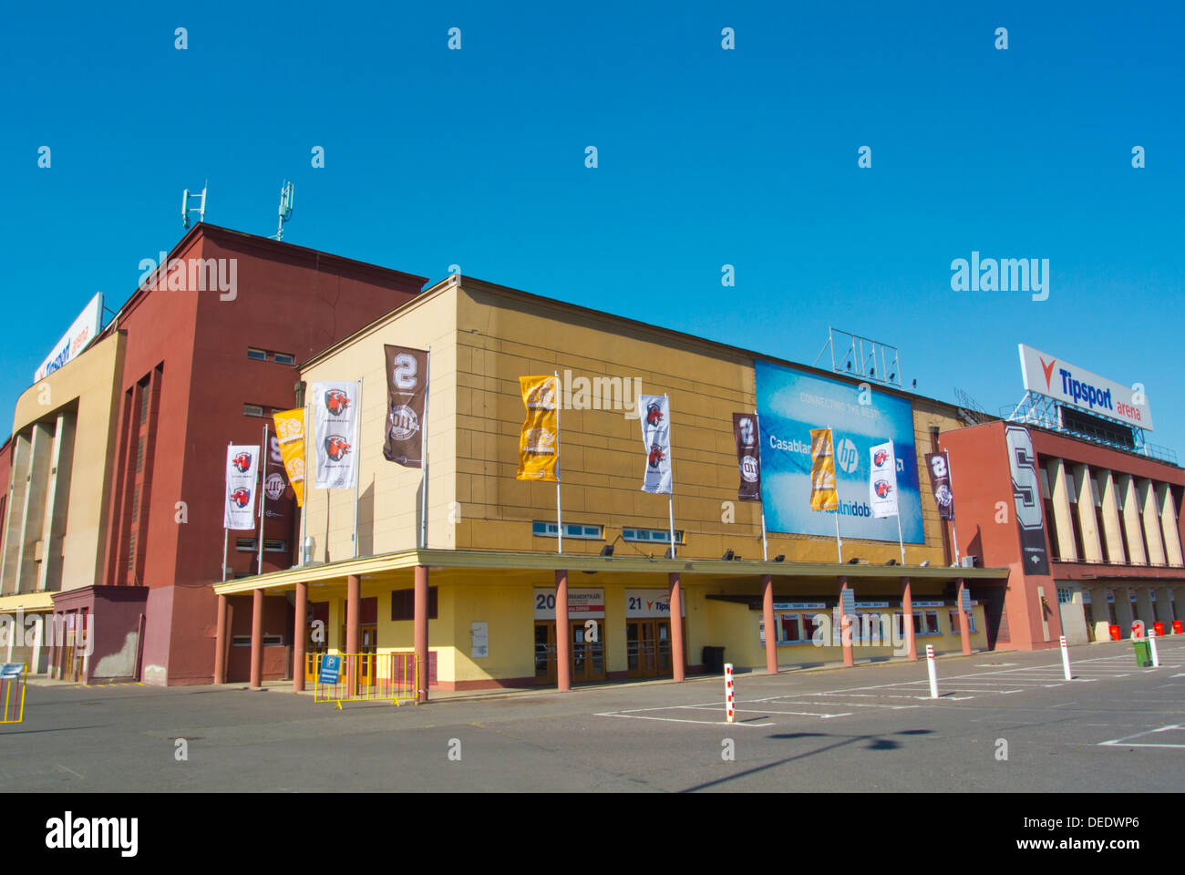 Tipsport Arena aka Sportovni Hala (1962) ice hockey arena Vystaviste exhibition grounds Holesovice district Prague Czech Rep - Stock Image